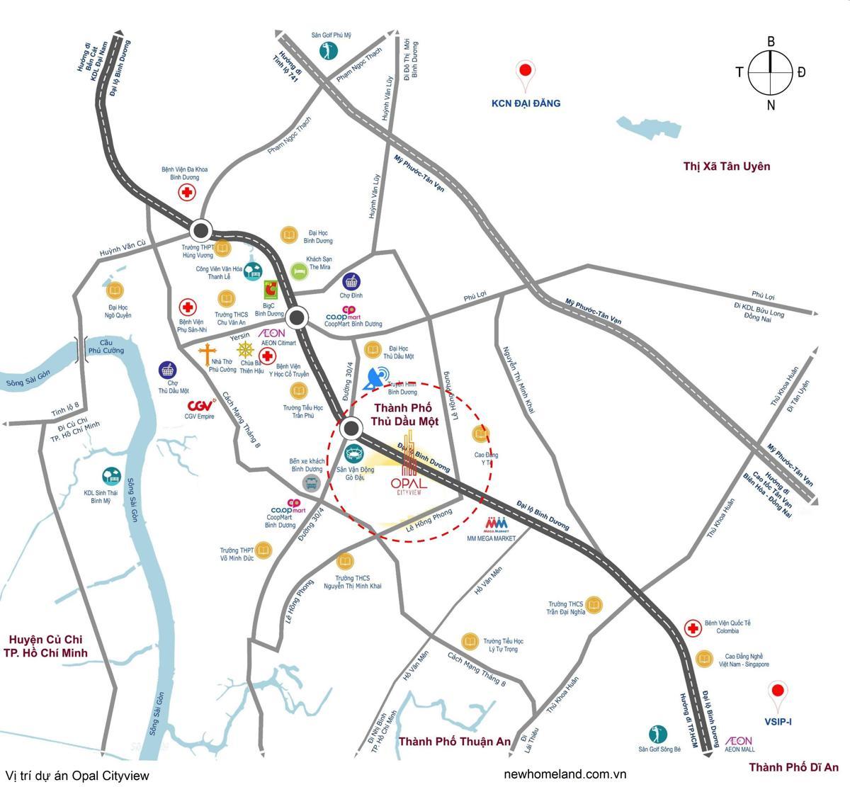 Vị trí dự án Opal Cityview