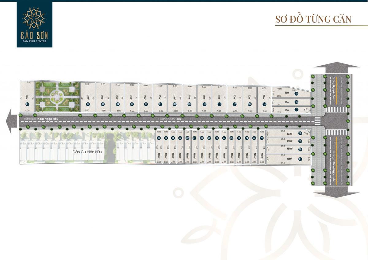 Mặt bằng dự án Bảo Sơn Tân Phú Center