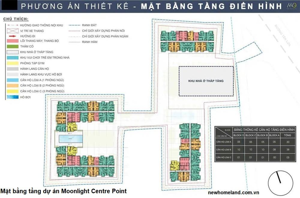 Mặt bằng tầng Moonlight Centre Point