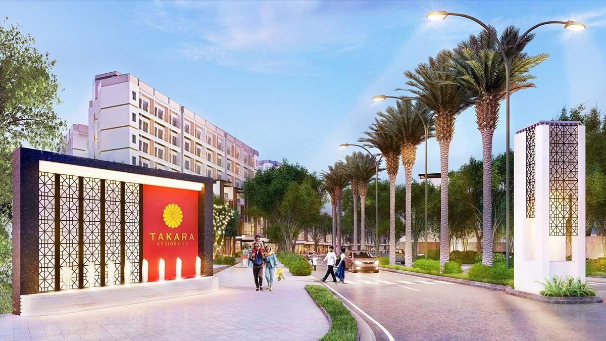 Cổng dự án Takara Residence
