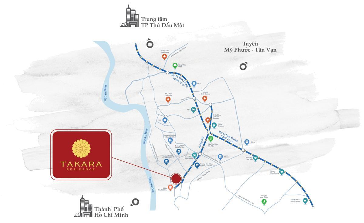 Vị trí Takara Residence